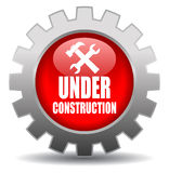 Under construction. Sign on white background Royalty Free Stock Photos