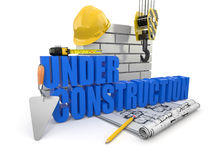 Under construction. Stock Photos