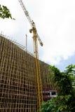 Under Construction. High Building Under Construction with Crane Stock Photos
