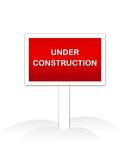 Under Construction. Web site Under Construction sign isolated illustration and web graphic Stock Photo