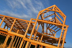 Under Construction. A house under construction, different angle Royalty Free Stock Image