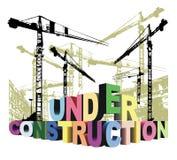 Under construction 3d stock illustration