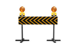 Under Construction. 3D Under Construction Sign with Flashes Royalty Free Stock Photo