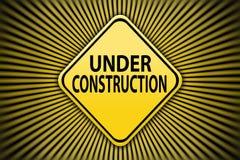 Under construction. Warning Symbol, under construction sign stock illustration