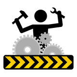 Under construction. Ideal web graphic under construction icon Stock Photography