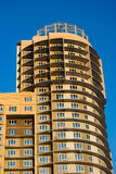 Under construction apartment building. Fragment of under construction apartment building in Saint-Petersburg, Russia Royalty Free Stock Photo