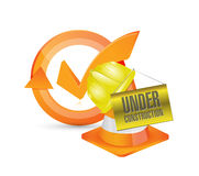 Under construction approve check mark cycle Stock Photography