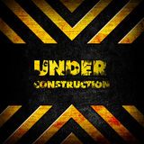 Under construction background. Picture of a under construction background Royalty Free Stock Images