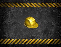 Under construction background. With 3d helmet and grunge Royalty Free Stock Photography