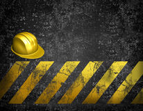 Under construction background. With 3d helmet and grunge Stock Images