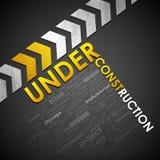 Under Construction Background. Illustration of under construction background with word cloud Royalty Free Stock Images