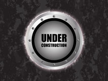 Under construction background. With metallic design Stock Image