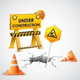 Under Construction Background Royalty Free Stock Photo