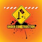 Under construction background. Vector illustration Stock Image
