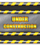 Under construction background with copy space Stock Photography