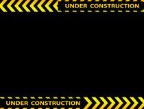 Under construction background. Illustration of under construction background with copy space Stock Images