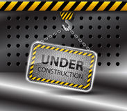 Under construction background-vector Royalty Free Stock Photos