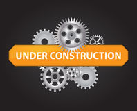Under construction background vector illustration Royalty Free Stock Photo