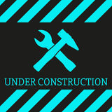 Under Construction Background. Vector illustration Royalty Free Stock Photo