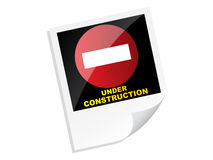 Under construction banner Stock Images