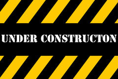 Under Construction Banner Stock Image