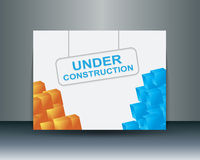 Under construction banner Royalty Free Stock Photography