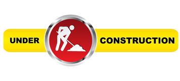 Under construction banner. Isolated on white background Stock Illustration