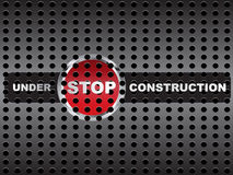 Under construction banner stock illustration