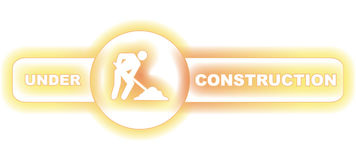 Under construction banner Royalty Free Stock Images