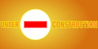 Under construction banner Stock Photos
