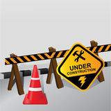 Under construction. Banner Vector illustration Royalty Free Stock Image