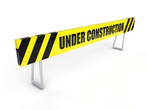 Under construction barrier Stock Image