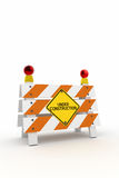 Under Construction Barrier Royalty Free Stock Photo