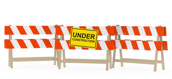 Under construction barrier Royalty Free Stock Image