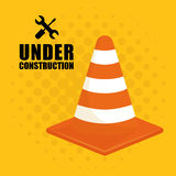 Under construction barrier design Royalty Free Stock Images