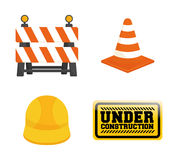 Under construction barrier design Royalty Free Stock Photo