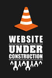 Under construction barrier design Stock Photo