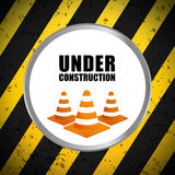 Under construction barrier design Stock Images
