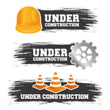 Under construction barrier design Stock Photos