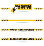 Under construction bars Stock Photography