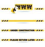 Under construction bars. Website construction bars - under construction - please return later vector illustration