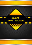 Under construction, black corduroy background. Vector 10eps royalty free illustration