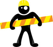 Under construction black man icon Royalty Free Stock Photo
