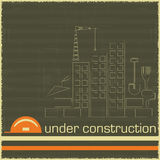Under Construction in black and orange color Royalty Free Stock Photography