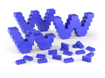 Under construction with blue blocks. Www of blue blocks under construction Royalty Free Stock Photos