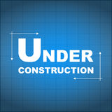 Under construction blueprint Royalty Free Stock Photography