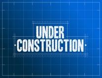 Under construction blueprint illustration Royalty Free Stock Photo
