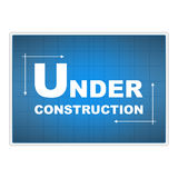 Under construction blueprint royalty free stock photography