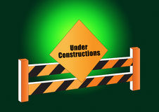 Under construction board Stock Photography