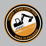 Under construction bottom Royalty Free Stock Images